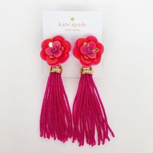 Kate Spade Rosy Posies Tassel Earrings